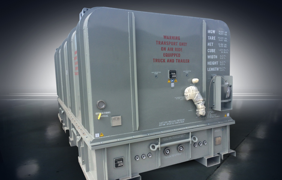 LM2500 Universal Container with Nitrogen Purge Capability