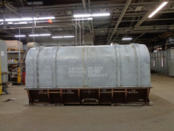 Gas Turbine Container Before