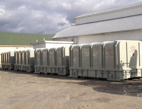 Rows of LM6000 Containers